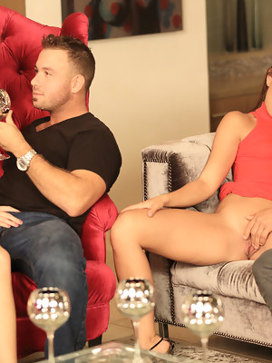 Caprice and Bella Rose are swapping dicks in hardcore foursome erotic party - image 3