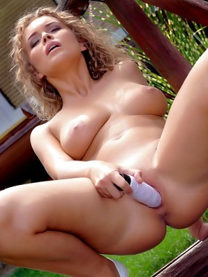Colette shows huge naturals and shaved pussy in Sweetness at Holly Randall