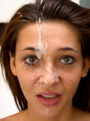 Alexis Brill deepthroats and gets rewarded with huge facial