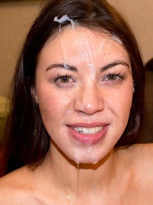 Tiffany Doll looks cute sucking cock and even cuter with cum on her face