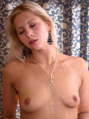 Candy Love was not sure about all this cum on her face