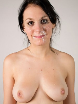 New girl Tereza K gets her face blasted with cum